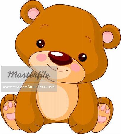Fun zoo. Illustration of cute Bear