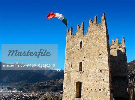 Castle of Arco in Italy - Garda Lake - Trento - Europe