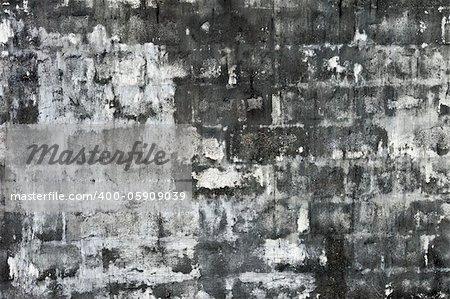 The high detailed rough white brick wall