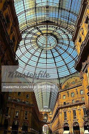 Vittorio Emanuele Gallery in Milan, Italy