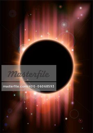 A futuristic ascience fiction eclipse background concept