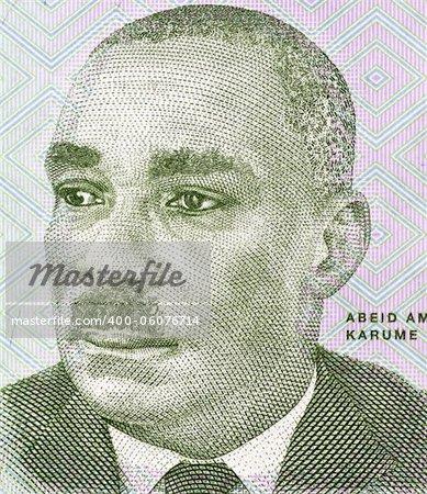 Abeid Karume (1905-1972) on 500 Shilingi 2010 Banknote from Tanzania. First President of Zanzibar.