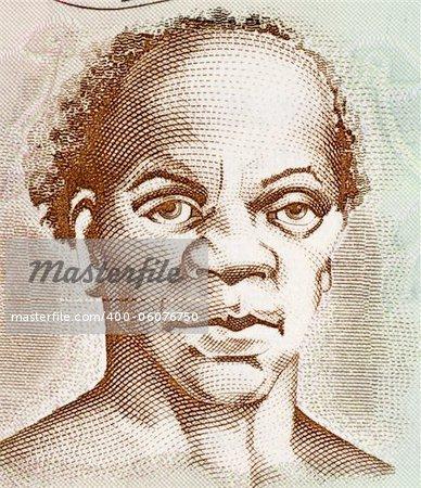 Samuel Sharpe (1801-1832) on 50 Dollars 2009 Banknote from Jamaica. Slave leader behind the Jamaican Baptist War slave rebellion.