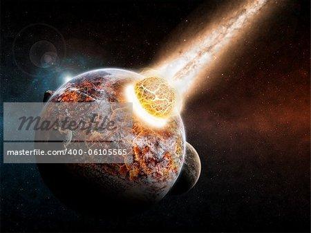 Planet landscape apocalypse made with photoshop cs5
