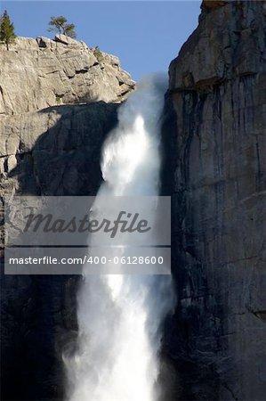 Top of Yosemite Falls in Yosemite National Park, California, U.S.A.