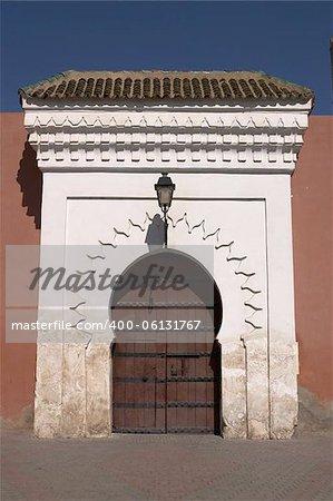 Doorway into Marrakech morocco