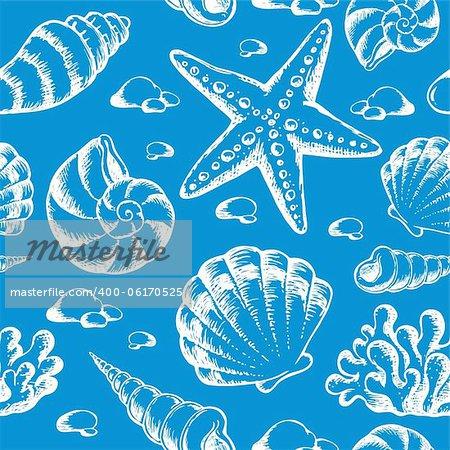 Beach theme seamless background 2 - vector illustration.
