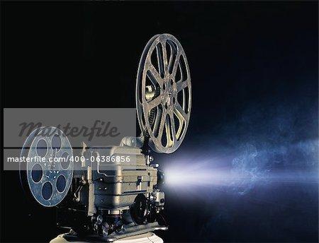 old cinema projector photo