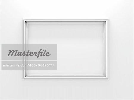 White photo frame. Isolateoited on White Background.