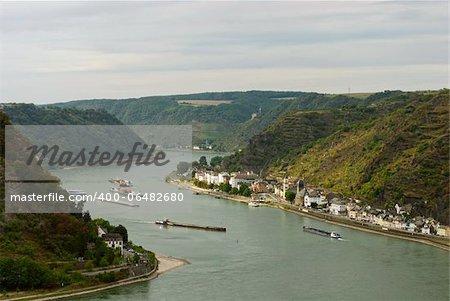 Loreley rock on the Rhine  near St. Goarshausen, Germany