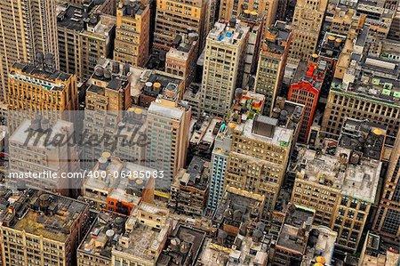 New York streets bird's view, Manhattan, New York, USA