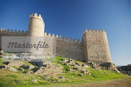 view of Avila city at Castilla in Spain
