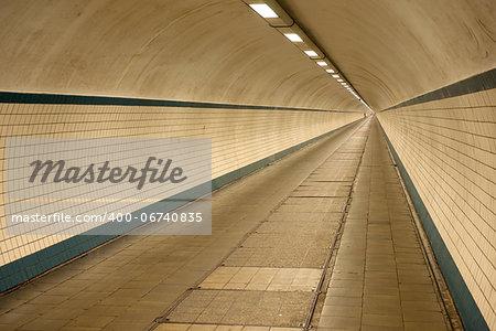 An underground crosswalk under the Schelde river in Antwerpen, Belgium