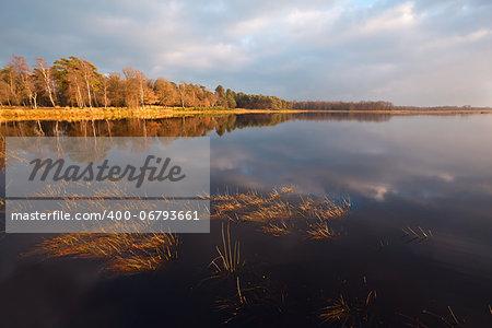 calm wild lake before the sunrise, Dwingelderveld