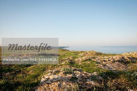 Plateau on the cliffs over the Black sea, Bulgarian coast