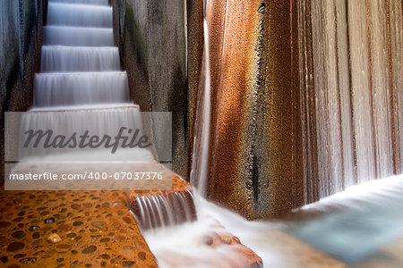 Portland Oregon Public Parks Water Fountain Long Exposure Closeup