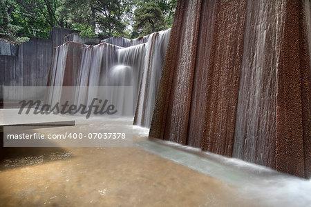 Portland Oregon Urban Public Parks Water Fountain Long Exposure