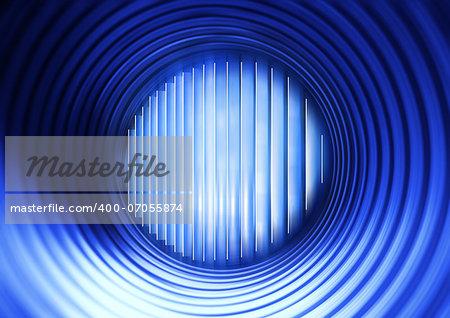 technological air ventilating process in futuristic conceptual tunnel