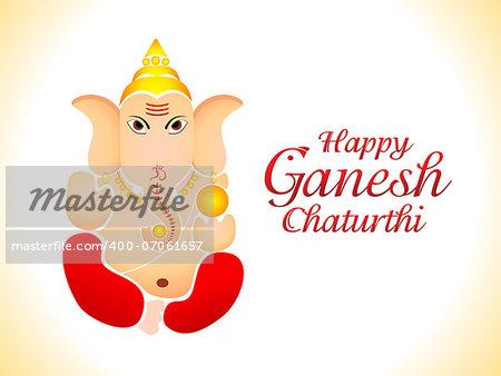 abstract ganesh chaturthi wallpaper vector illustration