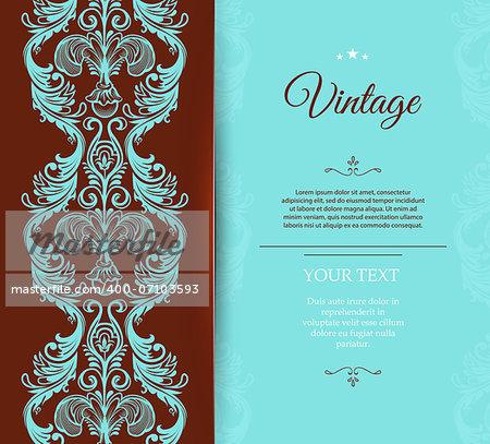 Vector illustration of Vintage template