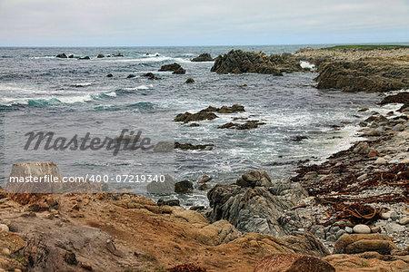 Beautiful Pacific Ocean coast, California