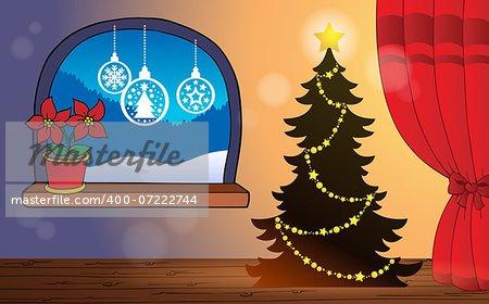Christmas indoor theme 2 - eps10 vector illustration.