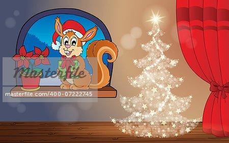 Christmas indoor theme 3 - eps10 vector illustration.