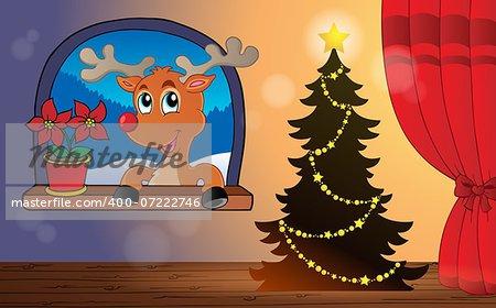 Christmas indoor theme 4 - eps10 vector illustration.