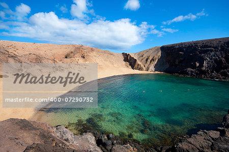 Papagayo Beach in Lanzarote, Canary Islands
