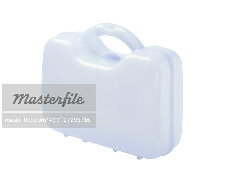 Plastic Storage Case On White Background
