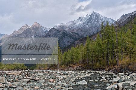 Shumak River in the Eastern Sayan Mountains