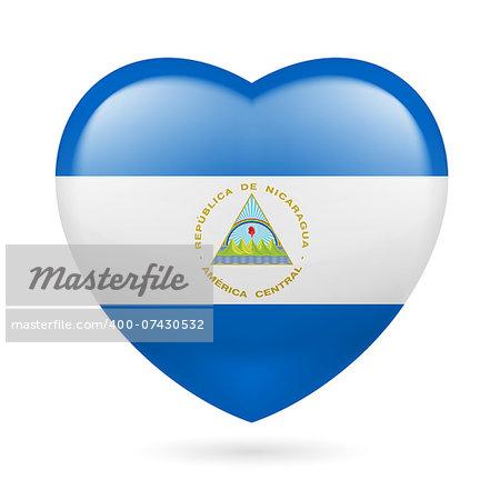 Heart with Nicaraguan flag colors. I love Nicaragua