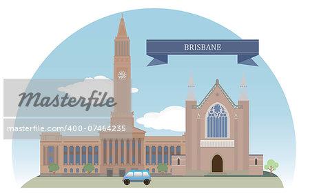 Brisbane. Australia. Vector for you design