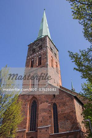 The Saint Aegidien church in Lubeck, Germany