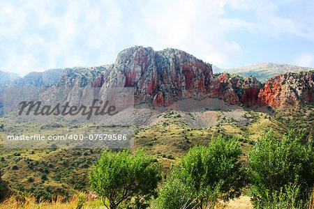Armenian beautiful landscape at Noravank monastery.