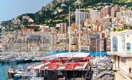 Principality of Monaco. Preparation for Monaco Formula 1 Grand Prix