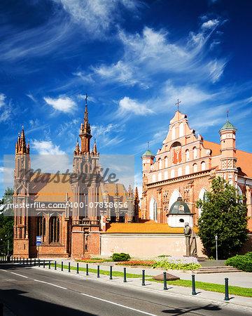 St. Anne's Church and Bernardine Monastery in Vilnius, Lithuania,