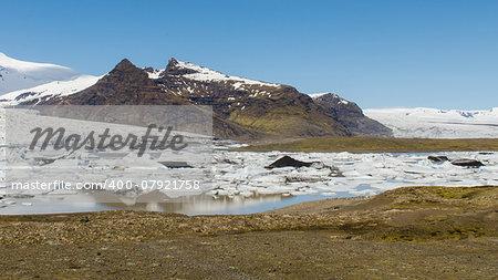 Fjallsarlon glacier lake