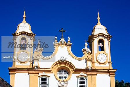 Matriz de Santo Antonio church church of the typical village of tiradentes in minas gerais state in brazil