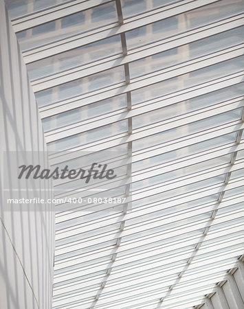 modern roof of windows