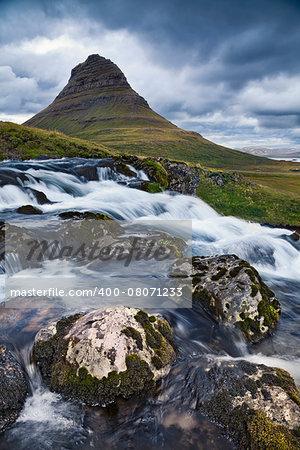 Image of Kirkjufell mountain on Snaefellsnes Peninsula, Iceland.