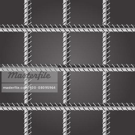 Prison Bars. Jail Bars on Dark Background.