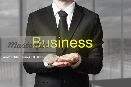 businessman in office begging gesture business