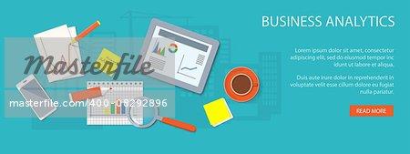 Flat design modern vector illustration concept of business  analytics - eps10