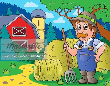 Farmer topic image 3 - eps10 vector illustration.