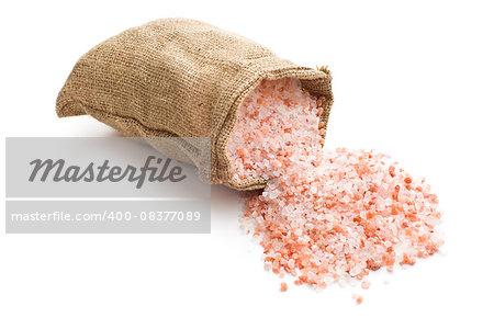 Himalayan salt in the bag