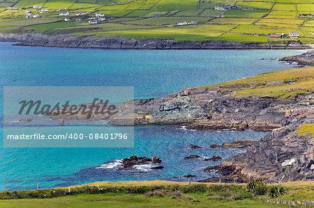 Irish landscape. Coastline atlantic ocean coast scenery