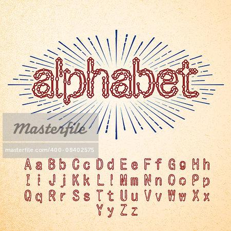 Techno Fonts Trendy Stylish Alphabet