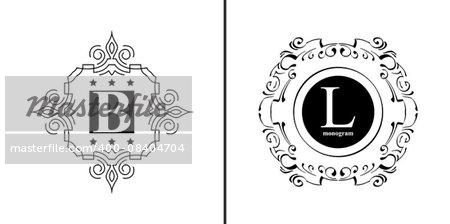 Elegant monogram design template. Luxury calligraphic emblem frame ornament. Line logo design. Vector illustration good for Boutique, Restaurant, Cafe, Heraldic, Hotel, Fashion, Jewelry.
