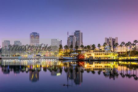Long Beach, California, USA skyline.
